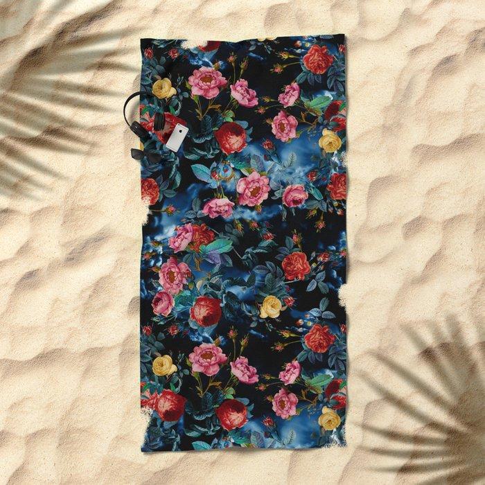 NIGHT FOREST XVI Beach Towel