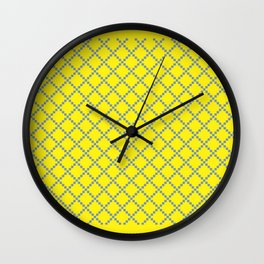 Yellow blue square Wall Clock
