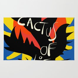 Cactus of Life Graffiti Street Abstract Art Rug