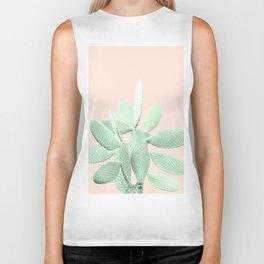 Green Blush Cactus #1 #plant #decor #art #society6 Biker Tank