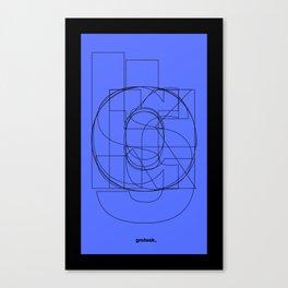 Die Neue Haas Grotesk (C-03) Canvas Print