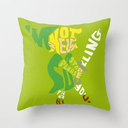 I'm not zelda, so please stop calling! thank you. Throw Pillow
