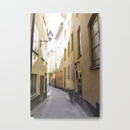 Narrow passageway Stockholm Metal Print