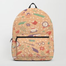 Read books pattern Backpack