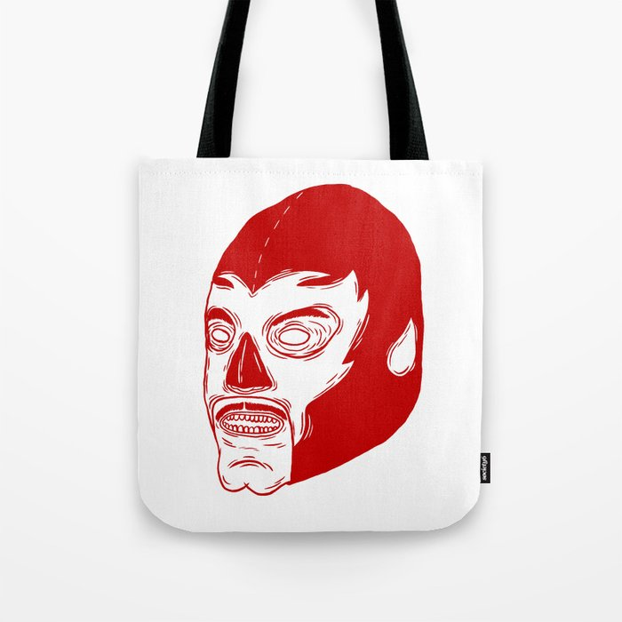 Red Luchador Tote Bag