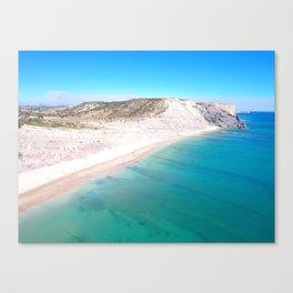 Aerial Beach Wall Art Print, Ocean Coastal Decor Canvas Print