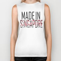singapore Biker Tanks featuring Made In Singapore by VirgoSpice