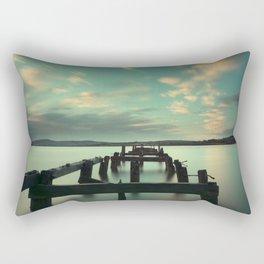 Fahan Pier at Sunrise Rectangular Pillow