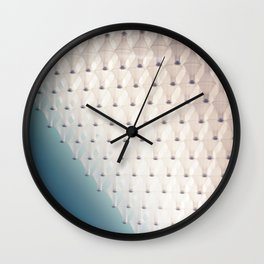 White Glass Wall Clock