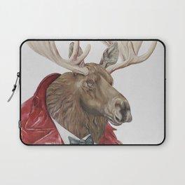 Moose in Maroon Laptop Sleeve