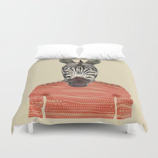 charlie zebra Duvet Cover