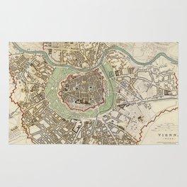Vintage Map of Vienna Austria (1833) Rug