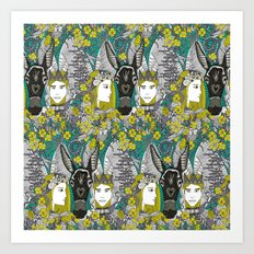 A Midsummer Night's Dream | fairy fantasy | emerald Art Print