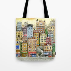 Painted Houses Tote Bag