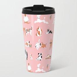 Dogs, Dogs, Dogs Pink Travel Mug