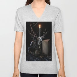 The Raven and the Departed Bouquet Unisex V-Neck