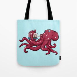 The Kraken's Day Off Tote Bag