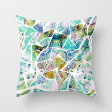 Marbled Earth Blue Throw Pillow