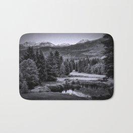 Whistler BC in Black & White Bath Mat