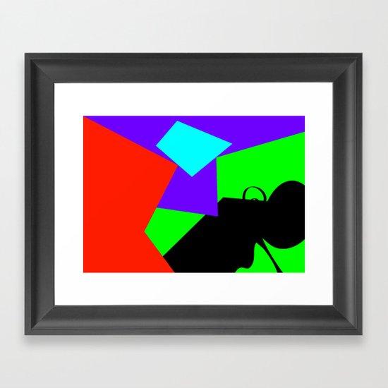 Black Flying Framed Art Print