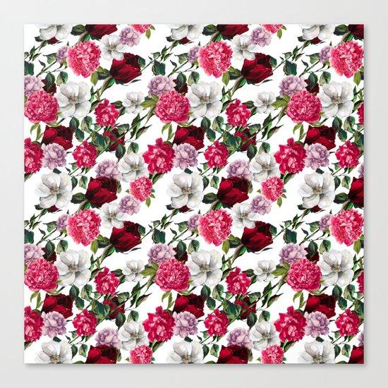 Fashion Floral Pattern Canvas Print