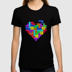 THE GAME OF LOVE Womens Fitted Tee SMALL Black