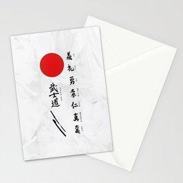7 Virtues of Bushido Stationery Cards