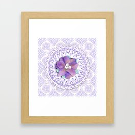 Delphinium Lace Framed Art Print