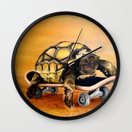 Skateboard Turtle Wall Clock