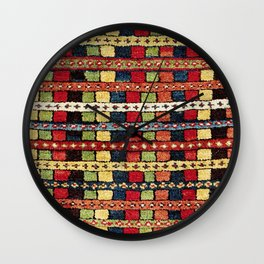 Rare Konya  Antique Turkish Tribal Yastik Wall Clock
