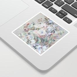 Delicate vintage subtle pastel floral abstract Sticker