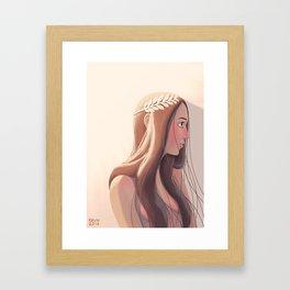 Laurel wreath Framed Art Print
