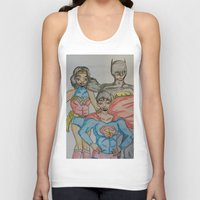 dc comics Tank Tops featuring DC: Trinity by aka-noodle