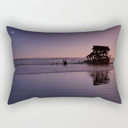 Peter Iredale Shipwreck at Fort Stevens State Park, Oregon. 2 Rectangular Pillow