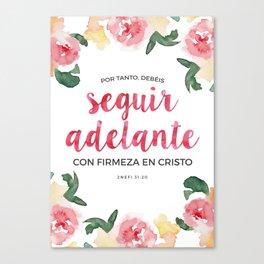 Seguir Adelante {Flores en Acuarela} Canvas Print