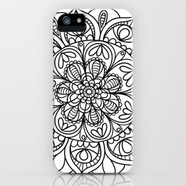 Mandala Black 3 iPhone Case