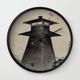 Japanese Woodcut Ogata, Gekkō, 1859-1920: Edo Kite Festival Wall Clock