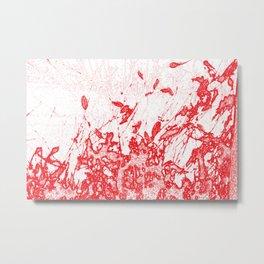 Coloured Rain Metal Print