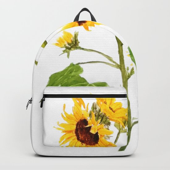 One sunflower watercolor arts Backpack