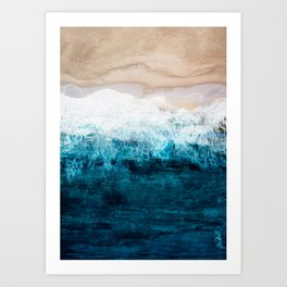 Watercolour Summer beach III Art Print