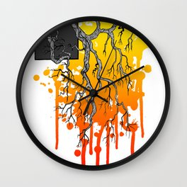 Liquid Autumn Leaves (Light) Wall Clock