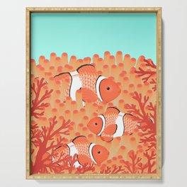 Clown fish - Mandarin Garnet Serving Tray