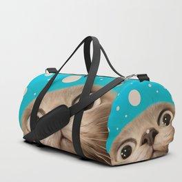 """Fun Kitty and Polka dots"" Duffle Bag"