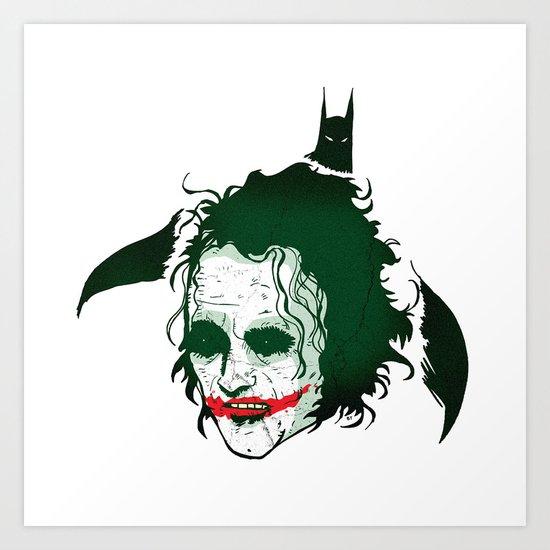 The Dark Knight & Joker Art Print