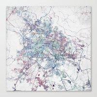 Canvas Prints featuring Guadalajara Map by MapMapMaps.Watercolors