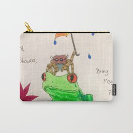 April Showers Bring May Flowers Carry-All Pouch