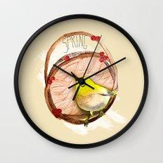Spring birdy / Nr. 1 Wall Clock