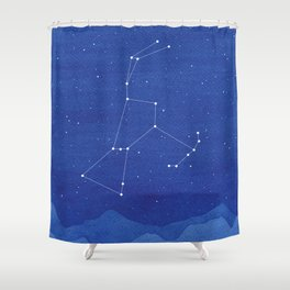 Orion Constellation, mountains Shower Curtain