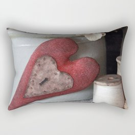 Vintage Heart Vignette Rectangular Pillow