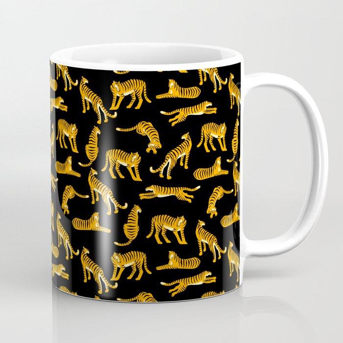 tiger print black Coffee Mug